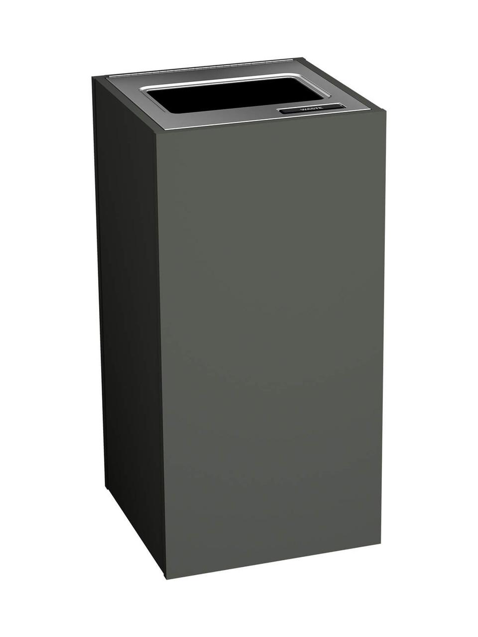 1 Stream 23 Gallon Aristata Tier 2 Recycling Bin 90912 Slate