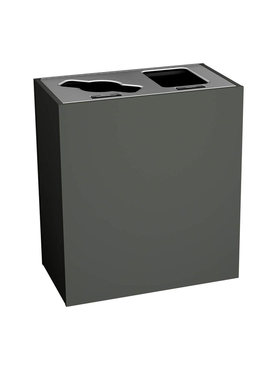 2 Stream 43 Gallon Aristata Tier 2 Recycling Bin 90927 Slate, Mixed, Full Openings