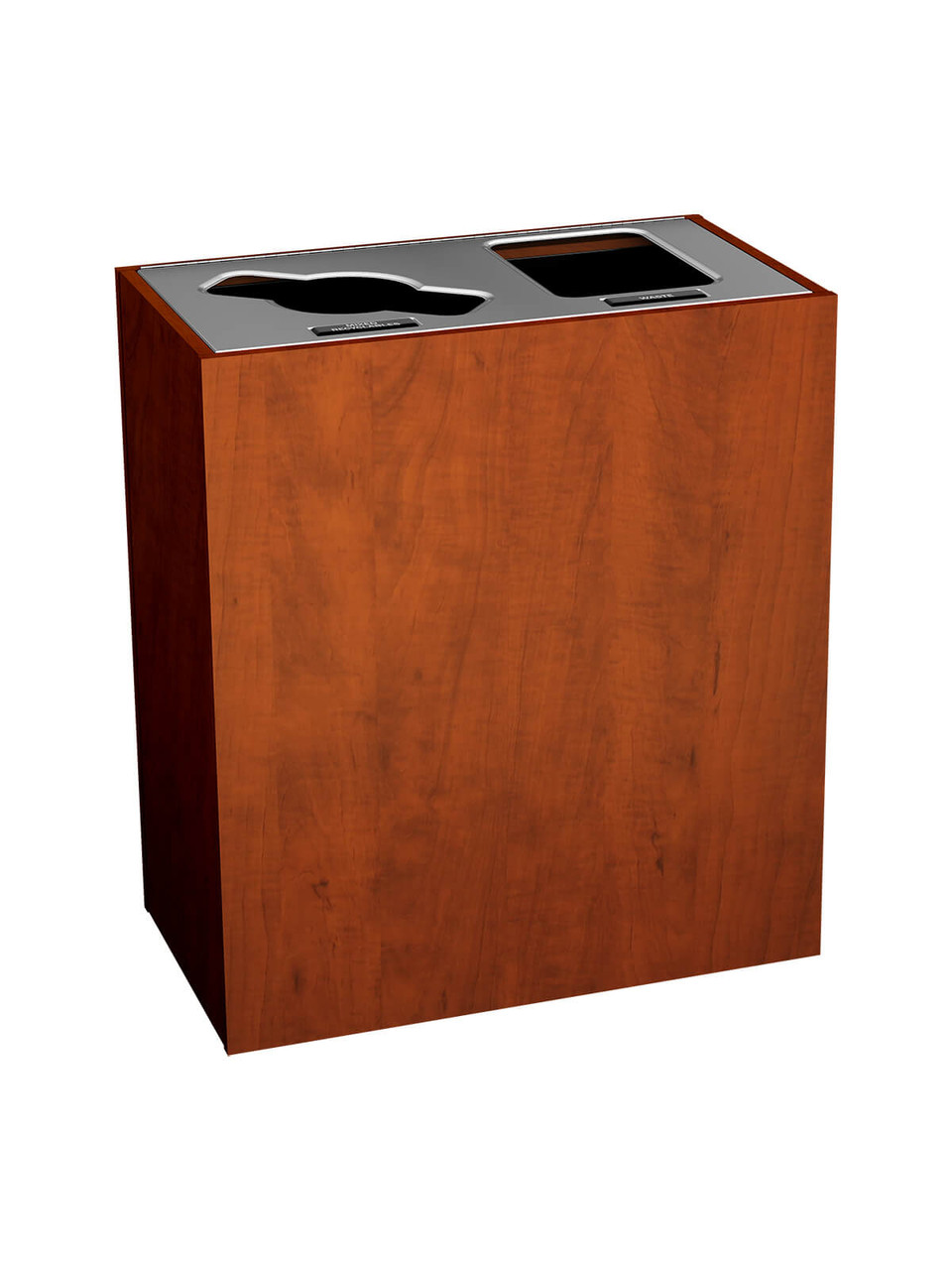 2 Stream 43 Gallon Aristata Tier 3 Recycling Bin 90932 Summer Flame, Mixed, Full Openings