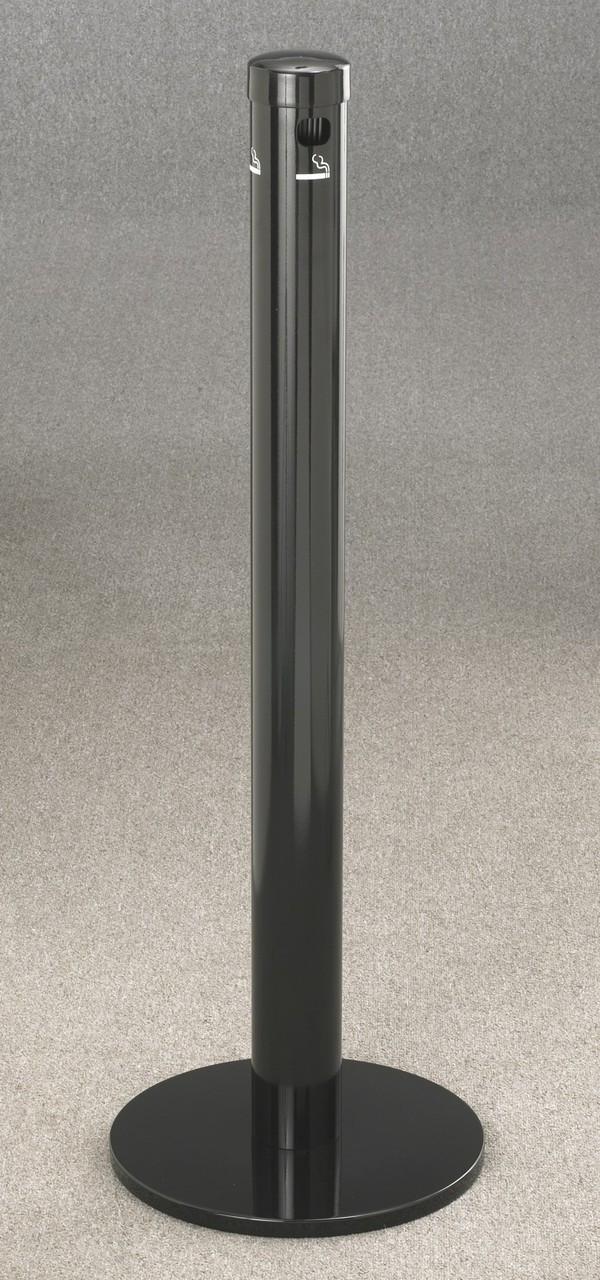 4403BK Satin Black Floor Standing Deluxe Smokers Receptacle