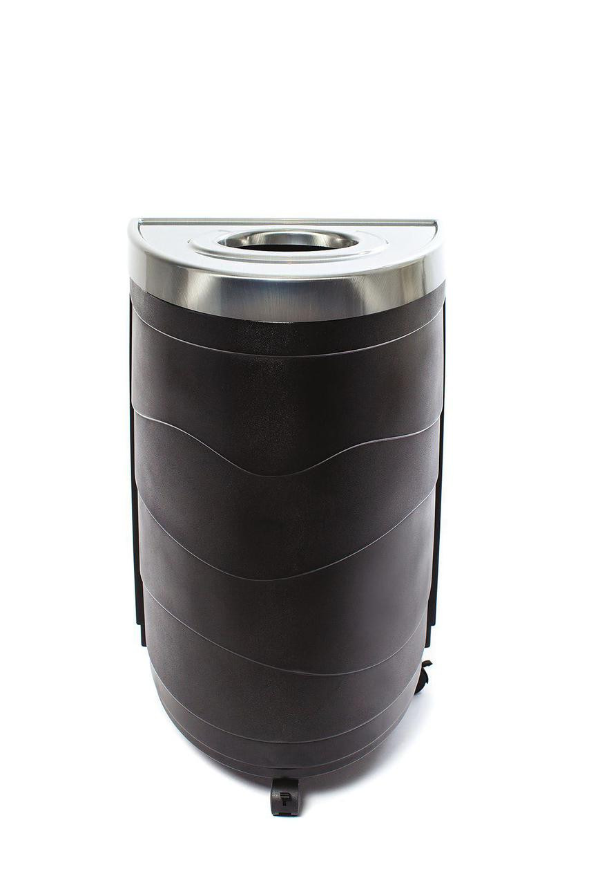 36 Gallon Evolve Series Ellipse Recycling Bin 90158 Circle Opening