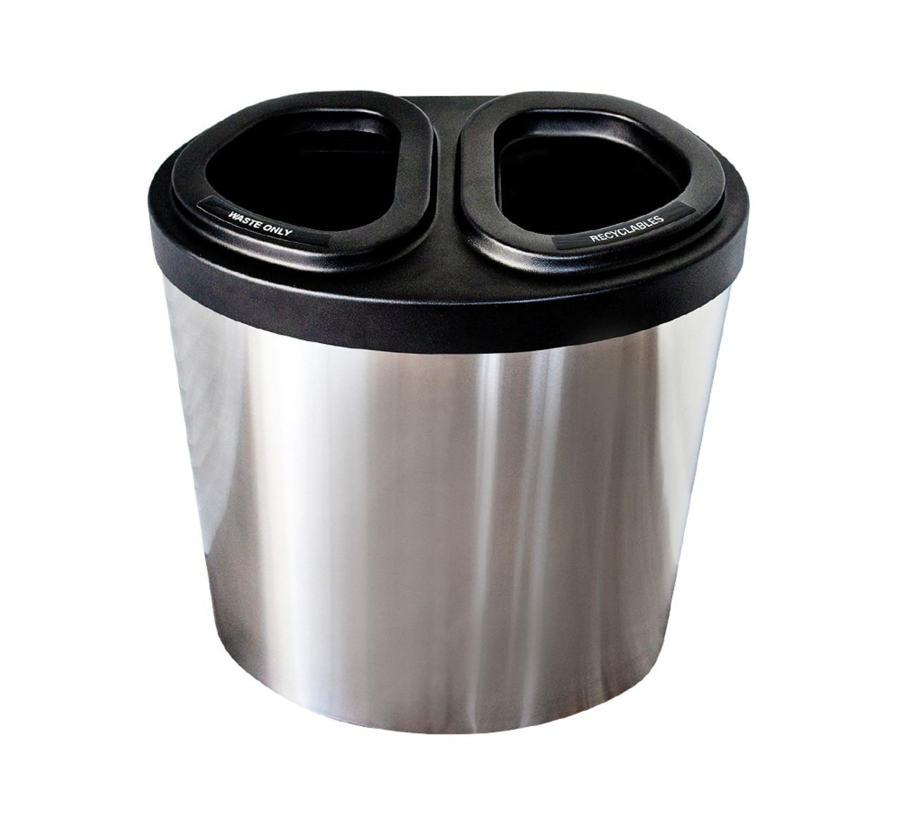 2 Stream 44 Gallon Kovah Stainless Steel Recycling Bin 90300