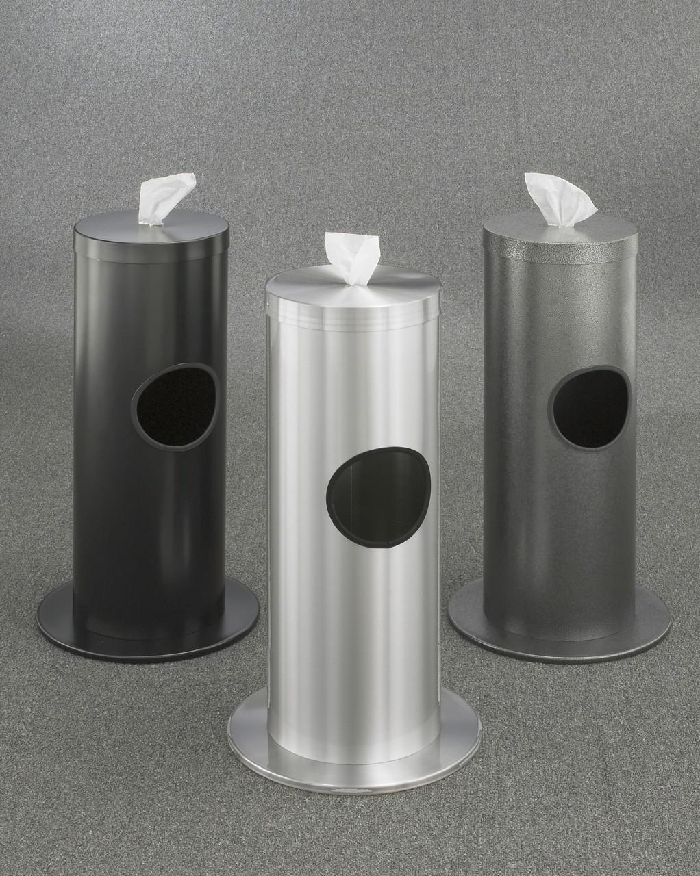 2 Gallon Floor Standing Sanitizing Wipe Dispenser F1029 Designer Color (Satin Black, Satin Aluminum, Silver Vein Shown)