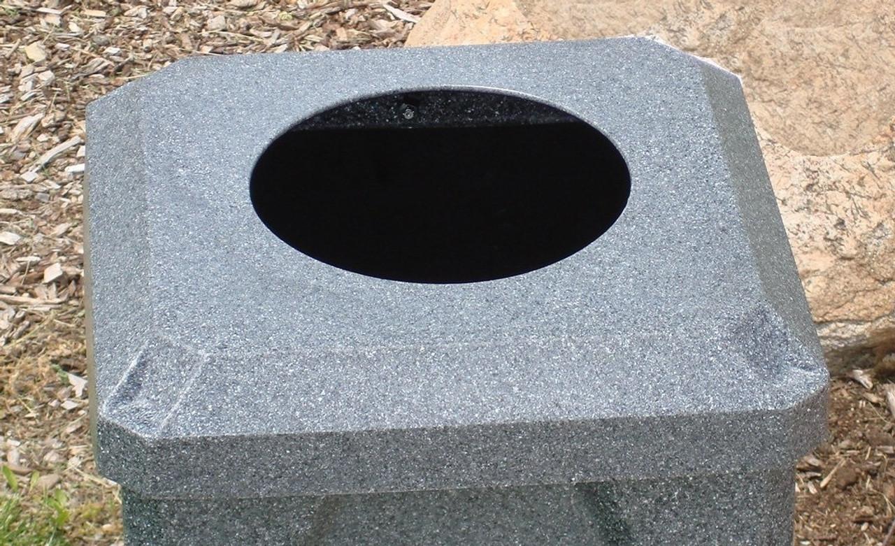 10 inch Opening Dark Granite