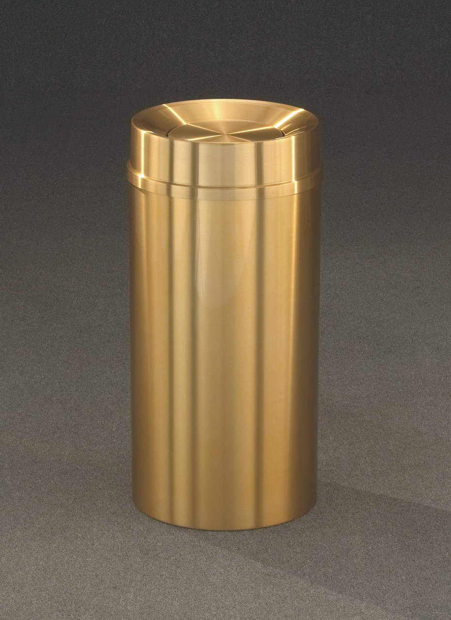 All Weather Brass TA1232BE Self Closing Trash Can