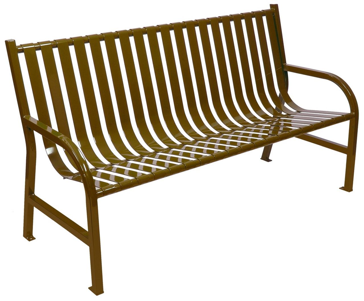 Witt Industries Oakley Outdoor Slatted Bench 5 Foot Brown
