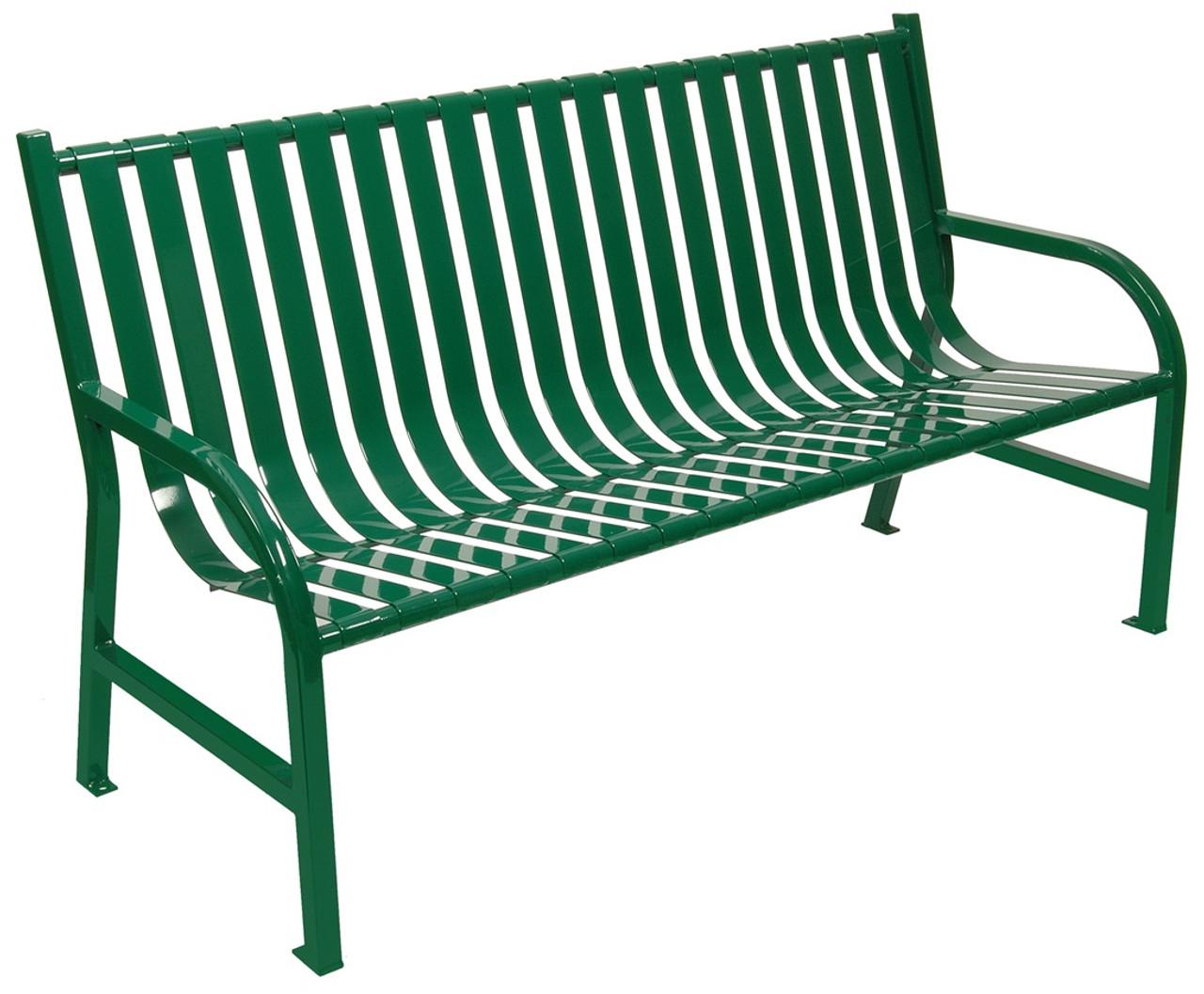 Witt Industries Oakley Outdoor Slatted Bench 5 Foot Green