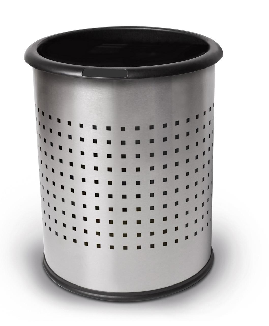 3 Gallon Stainless Steel Wastebasket Perforated Steel 785229