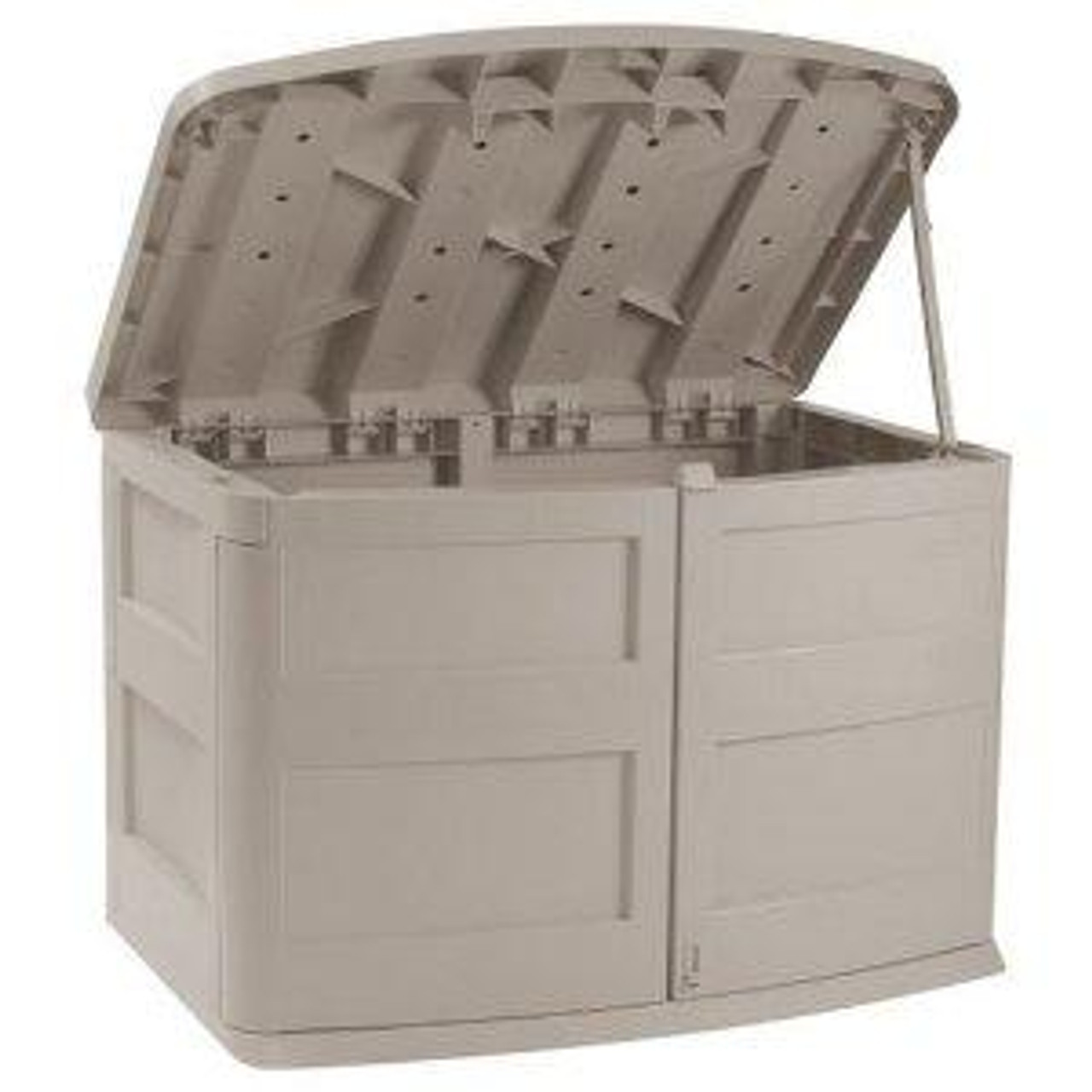 Horizontal Trash Can Storage Shed Garbage Can Hide Away with Top Open