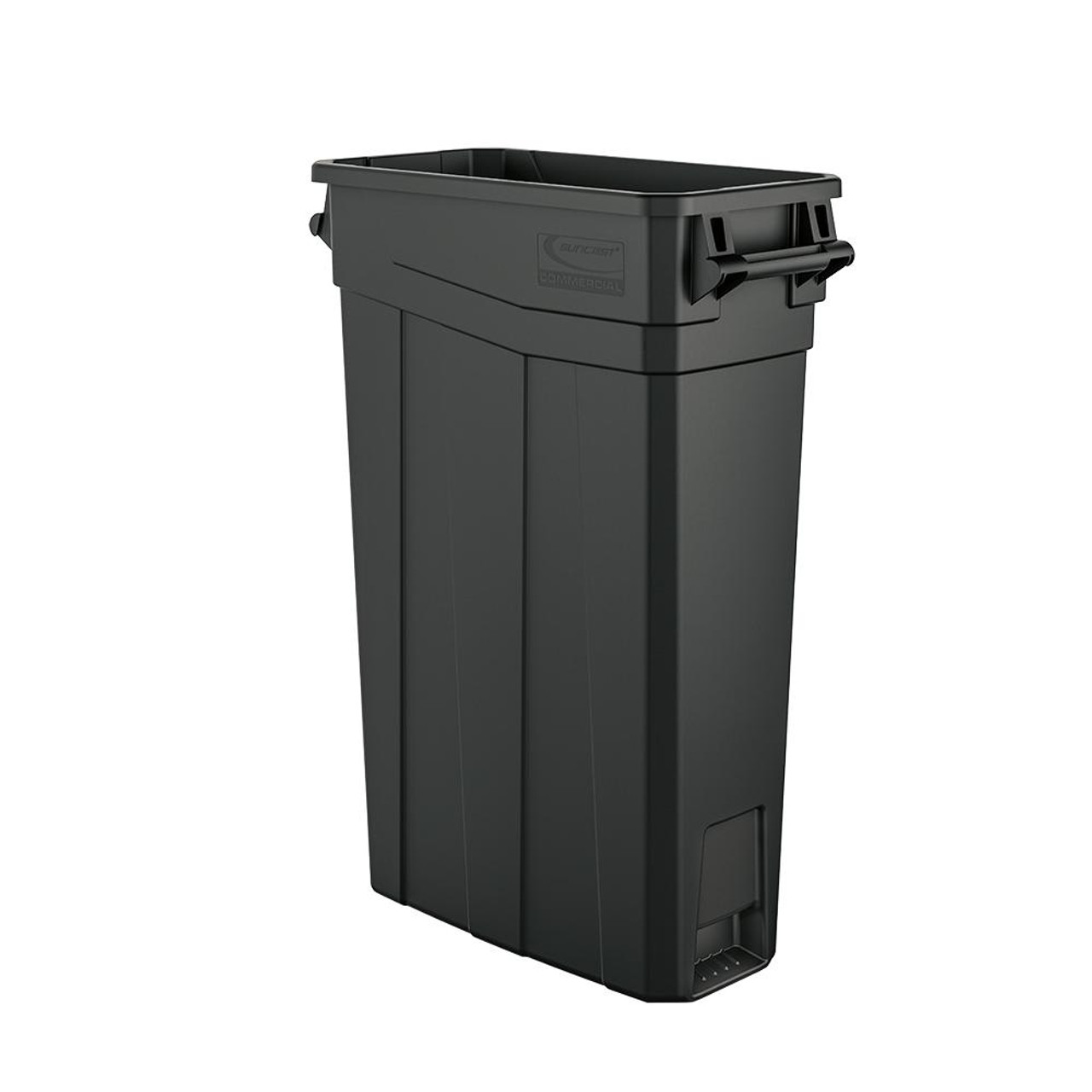 Skinny Plastic 23 Gallon Slim Trash Can with Handles TCNH2030