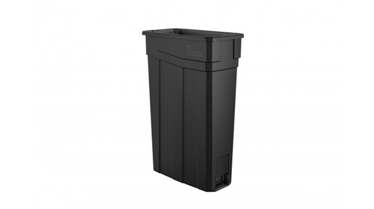Skinny Plastic 23 Gallon Slim Trash Can Vented TCNH2030