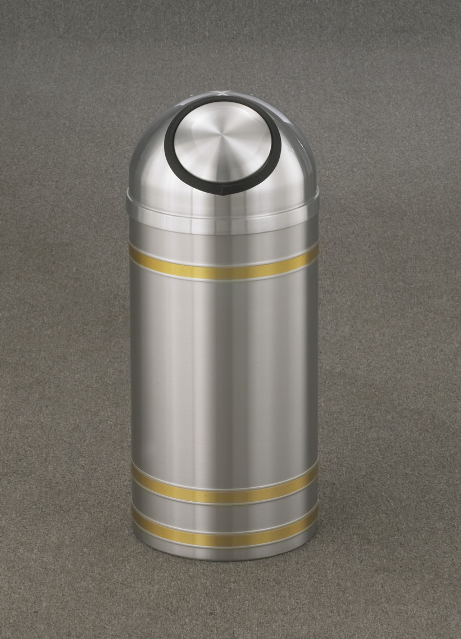Capri S1234 Dome Top Trash Can Satin Aluminum