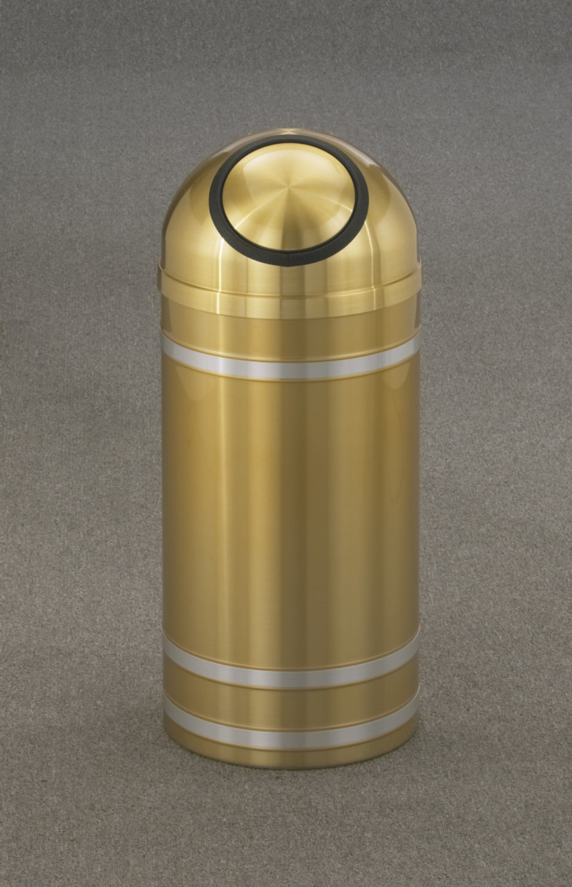 Capri S1234 Dome Top Trash Can Satin Brass