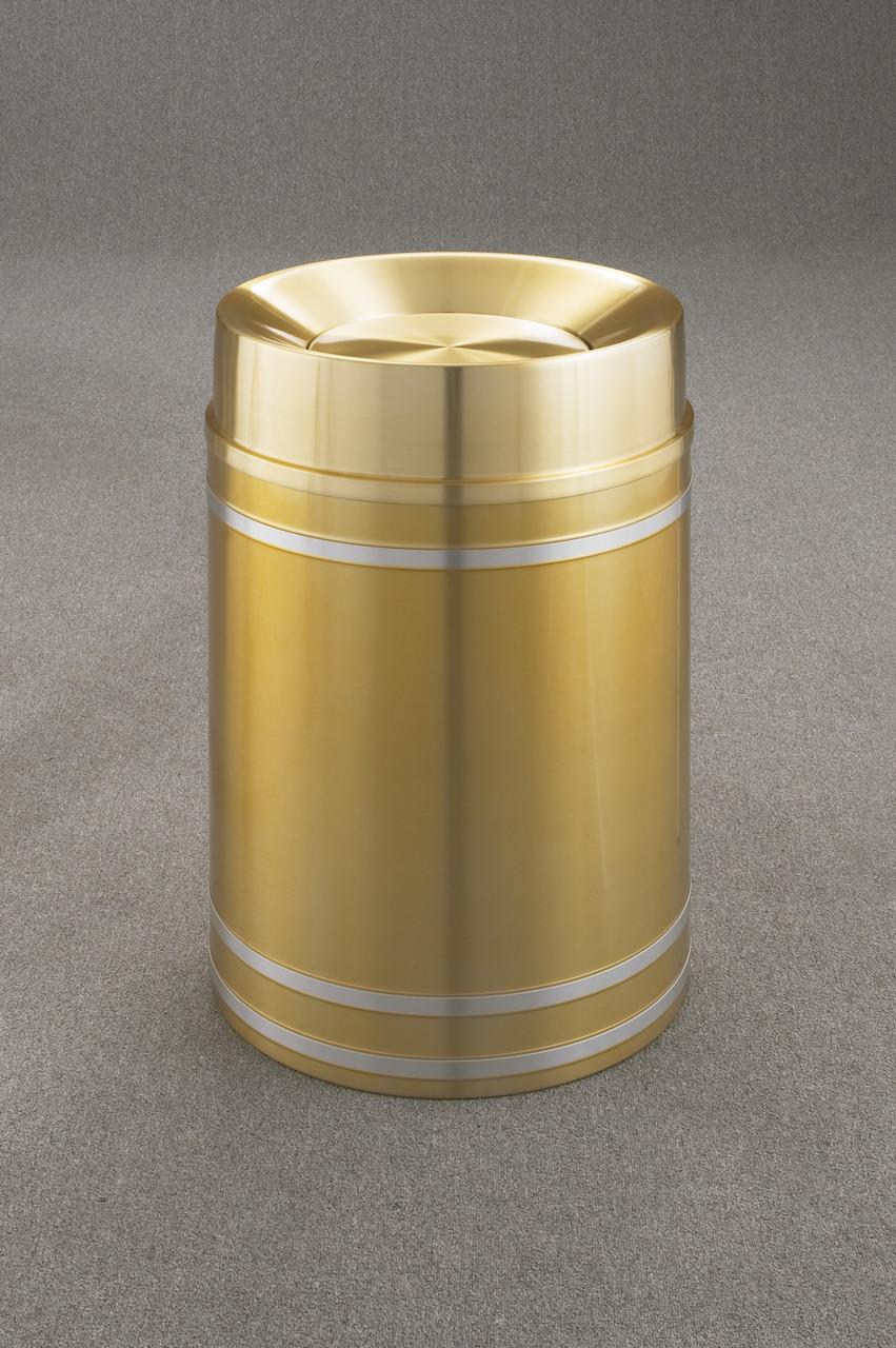Capri TA2034 Tip Action Top Trash Can Satin Brass 33 Gallon