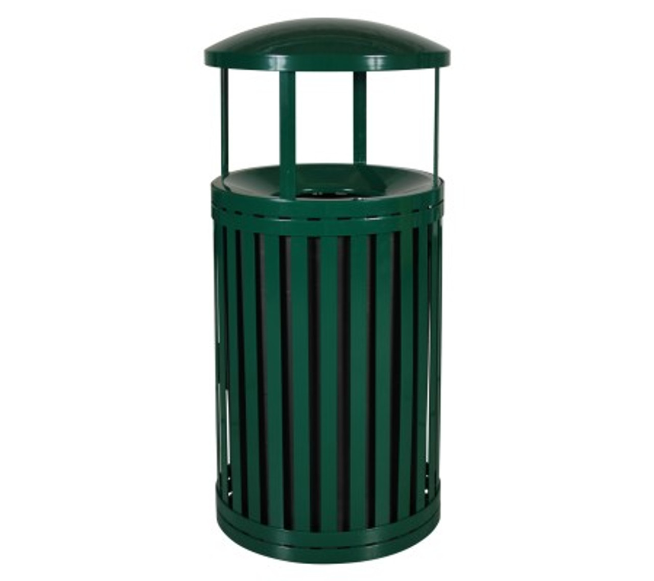 East Hampton 45 Gallon SCTP-40 D ND Covered Trash Can Green