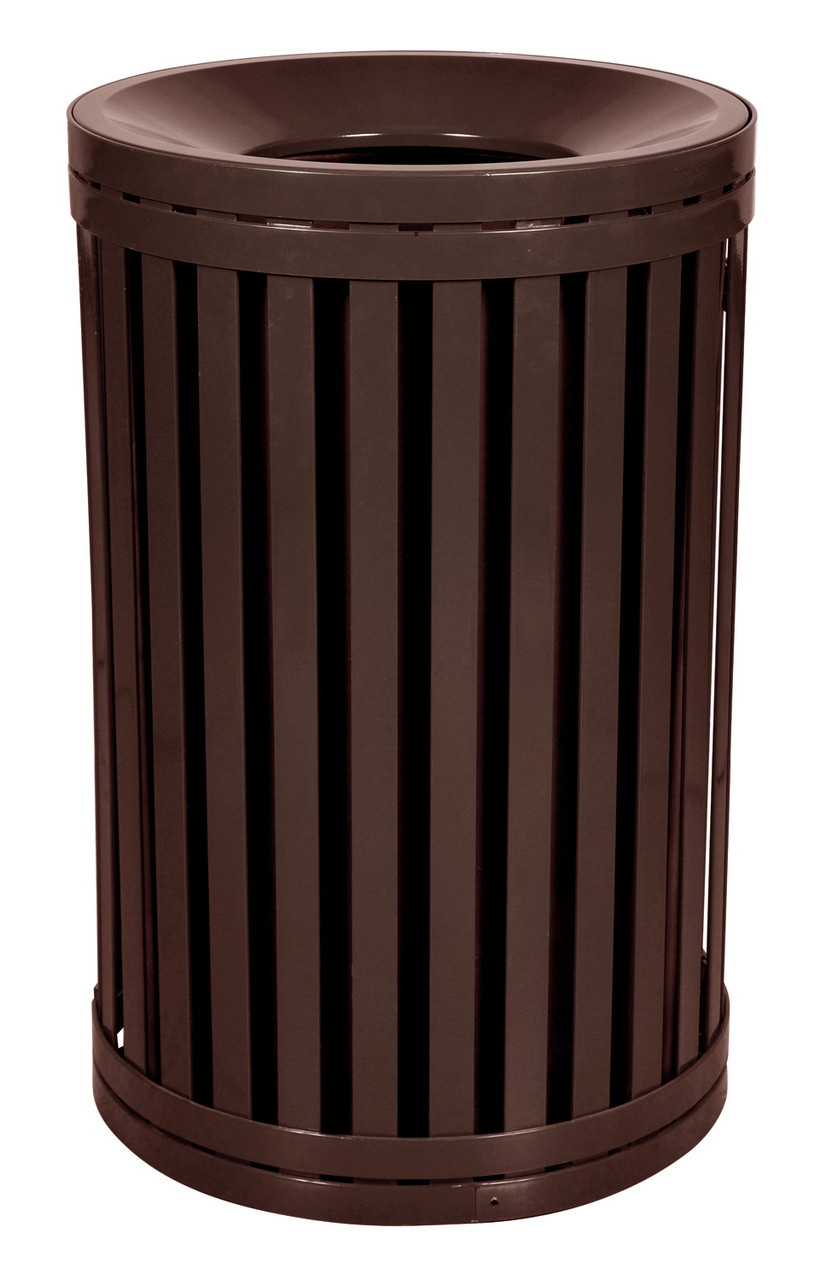 East Hampton 45 Gallon Outdoor Side Gate Or Top Opening Trash Can Brown