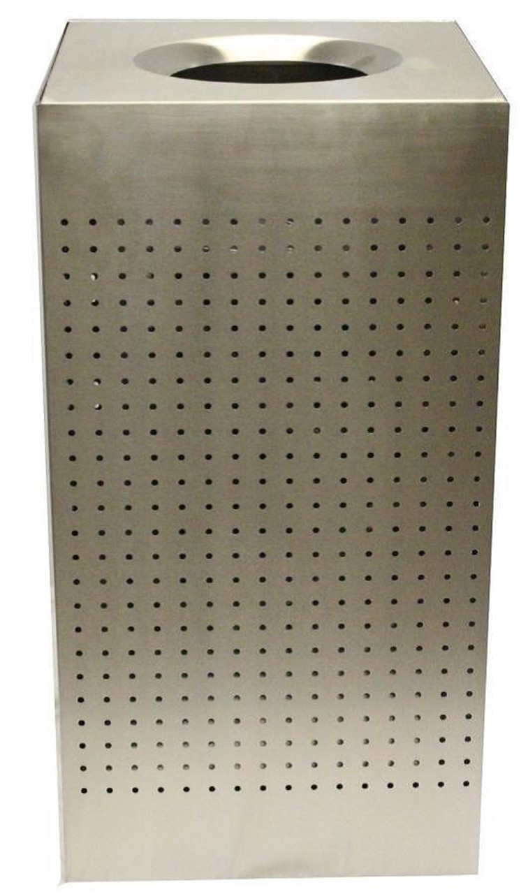 25 Gallon The Celestial CL25-SS Metal Indoor Trash Can Stainless