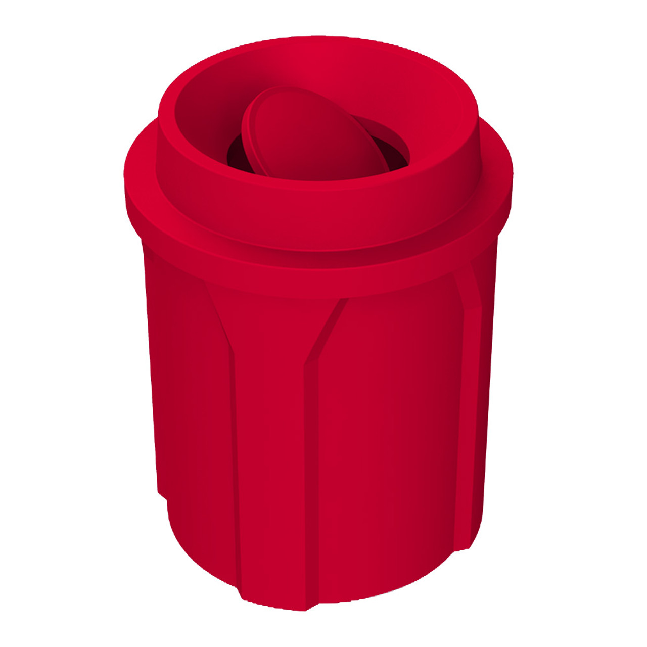 42 Gallon Kolor Can Bug Barrier Funnel Top Trash Can S7106A-00 RED