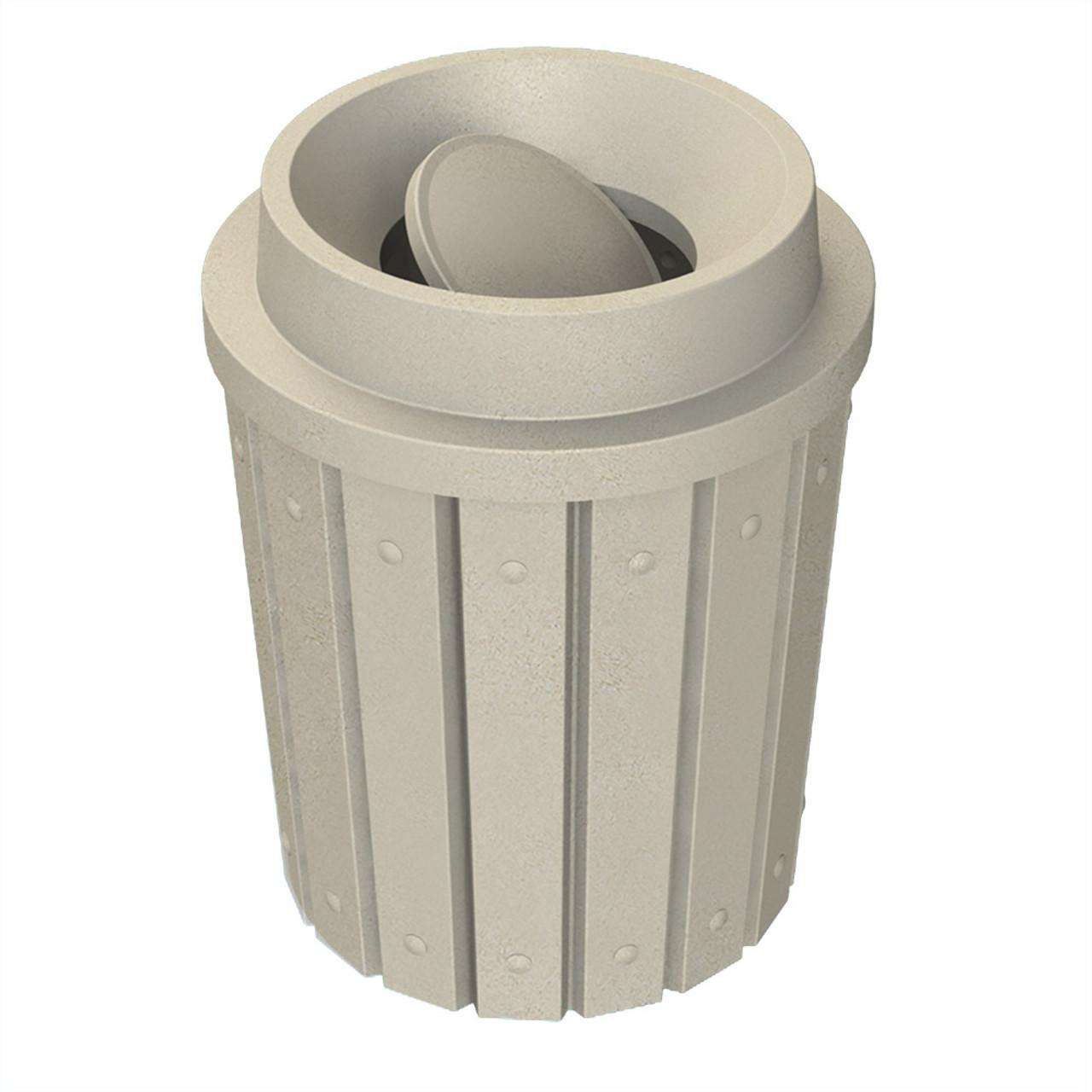 42 Gallon Heavy Duty Bug Barrier Funnel Top Trash Can S8286A-00 BEIGE GRANITE