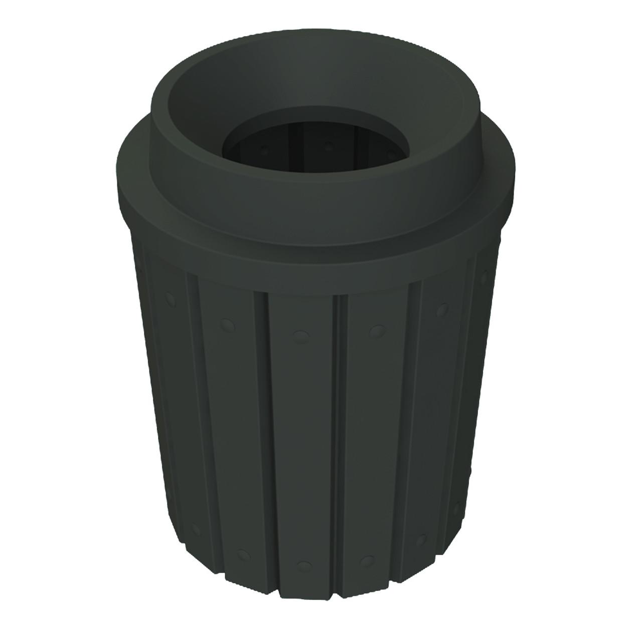 42 Gallon Heavy Duty Funnel Top Trash Can S8286A-02 BLACK