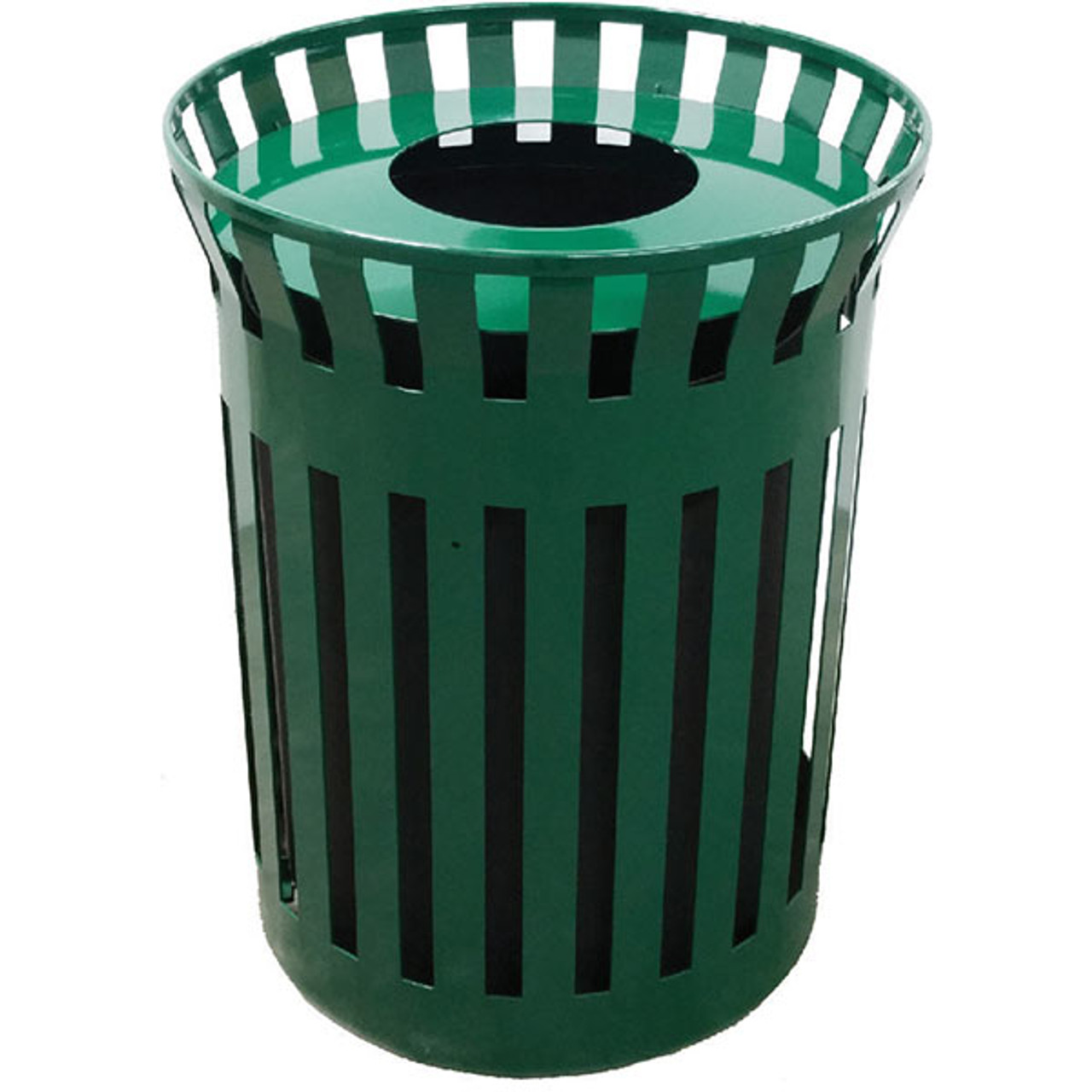 33 Gallon Flat Steel Waste Container with Funnel Top MF3298