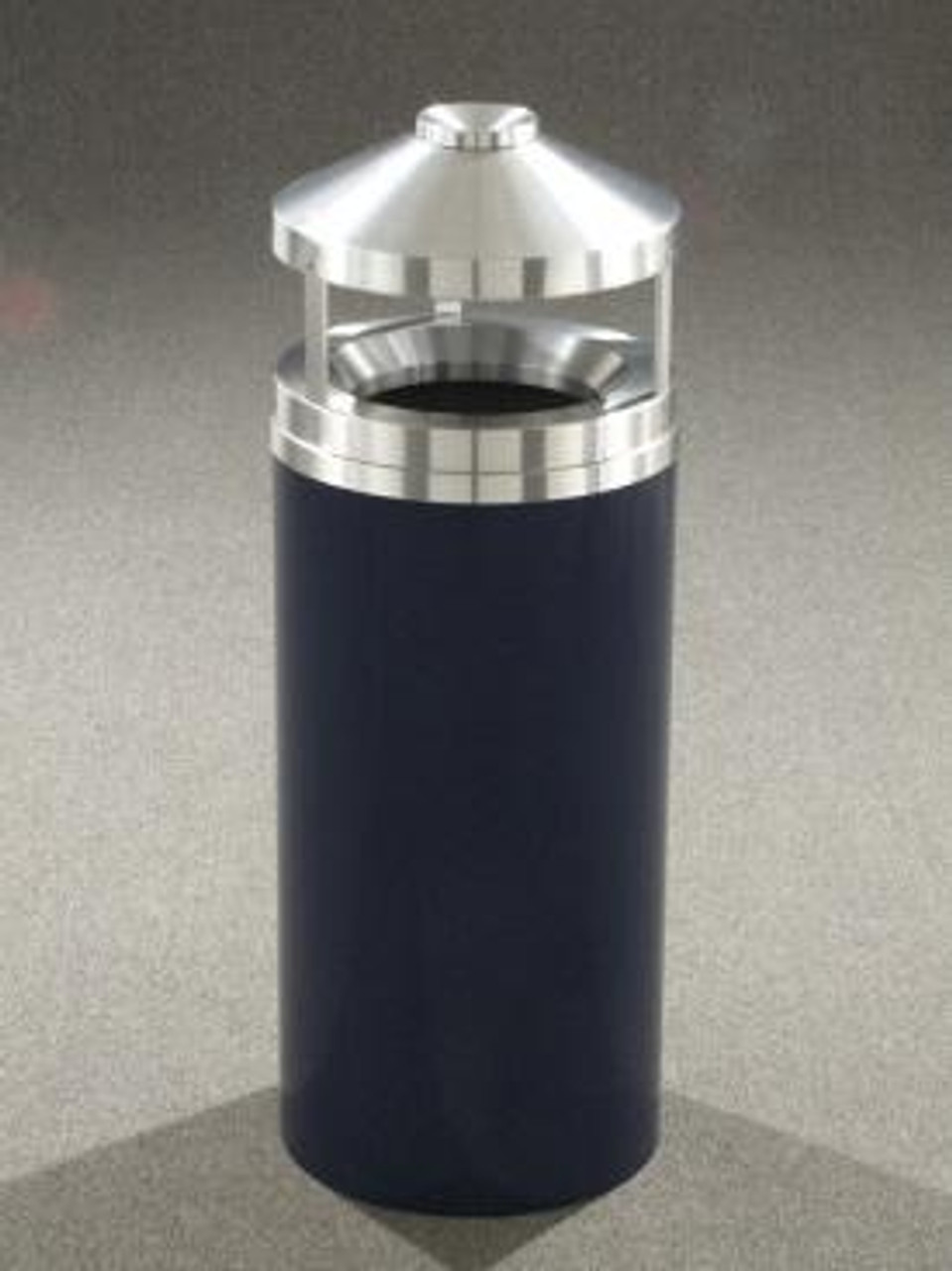 Glaro H1502 Canopy Top with Built-in Ashtray Satin Aluminum Top 15 Gallon BLUE MARBLE