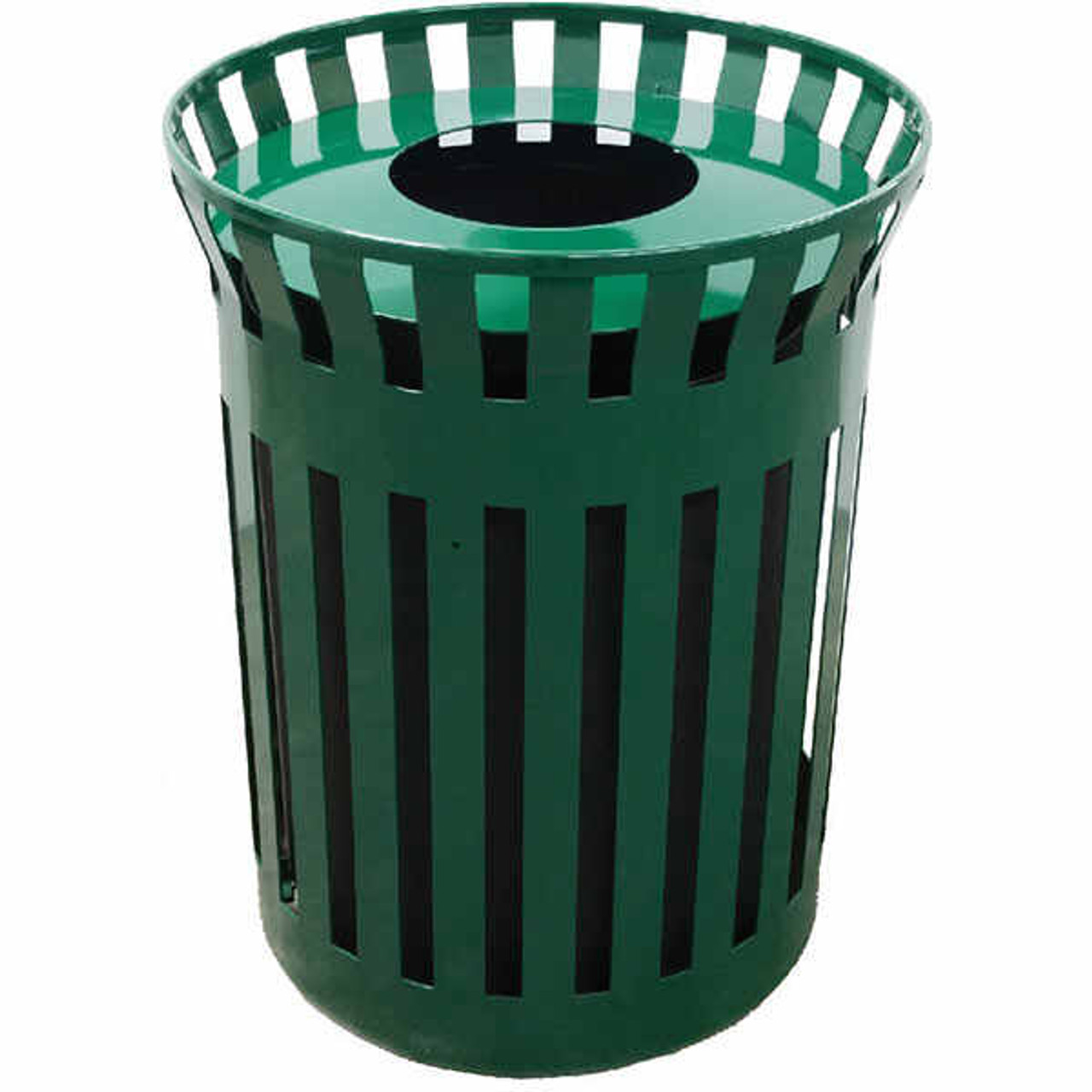 38 Gallon Flat Steel Waste Container with Funnel Top MF3398