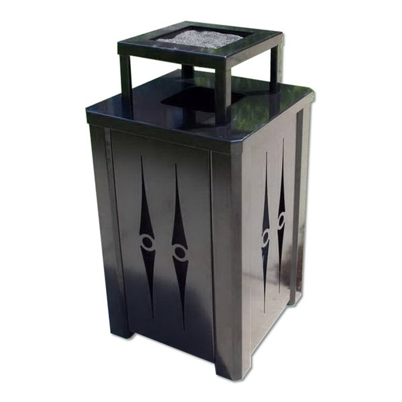 32 Gallon Ashtray Top Metal Trash Can S8050 (5 Body Styles)