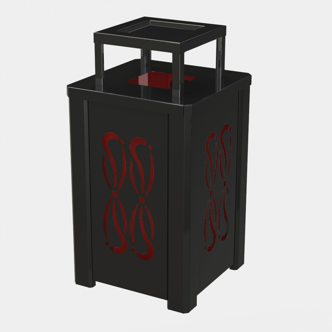 BLACK RECEPTACLE P05 WITH RED LINER