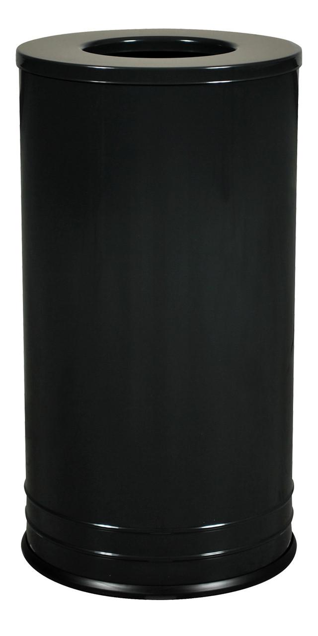 18 Gallon INT1528 T-8 BLK DB Designer Trash Container BLACK GLOSS