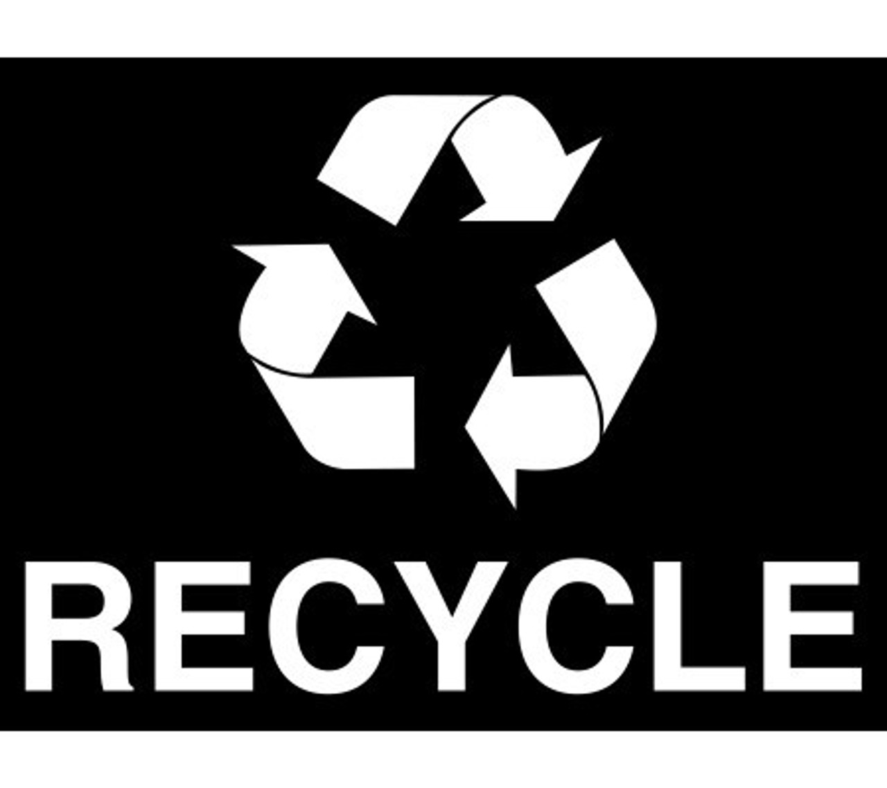 Optional White Recycle Decal