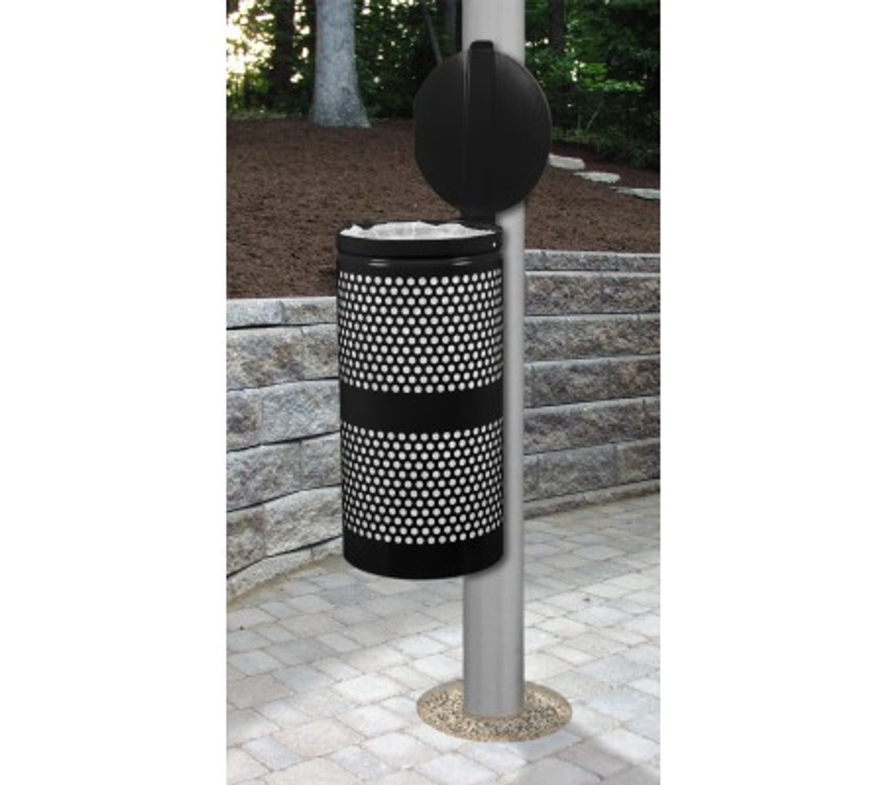 Can be Pole Mounted like this  WR-10R-CVR Shown in Black with Optional Mounting Bracket B-1022