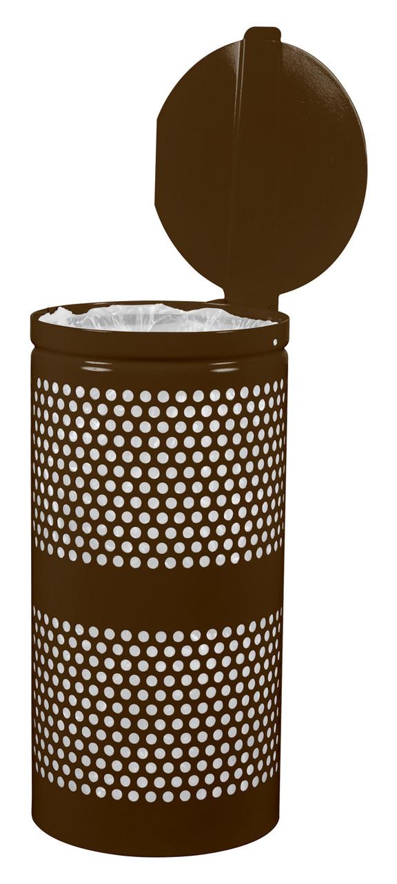 10 Gallon Covered Mesh Trash Can WR-10R CVR COF BROWN GLOSS