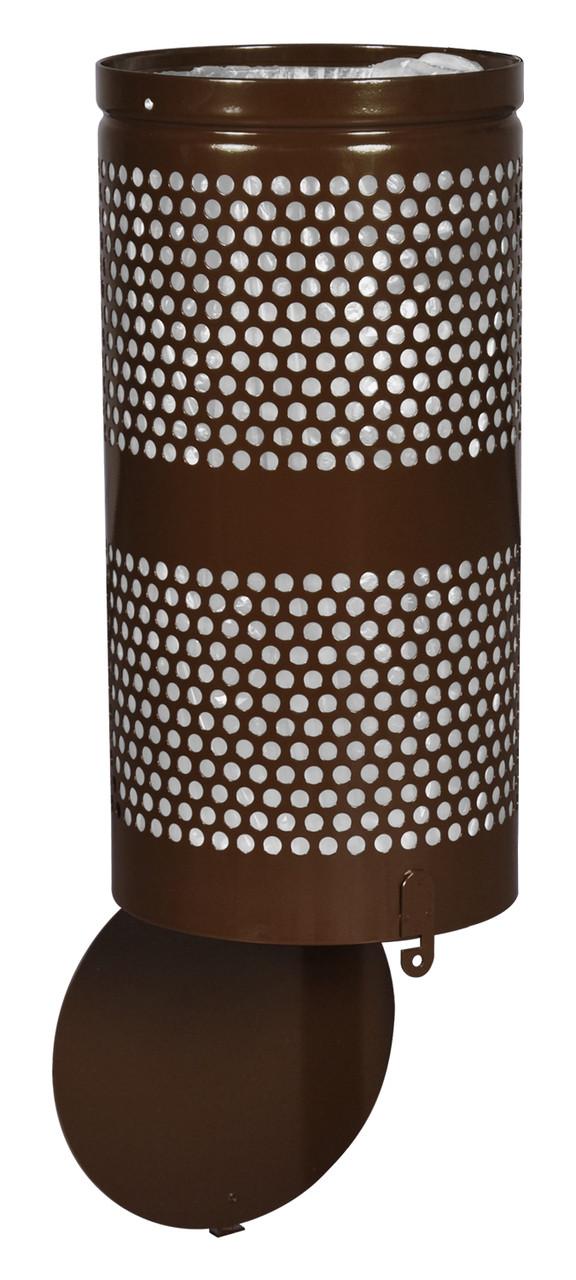10 Gallon Brown Drop Bottom Mesh Trash Can WR690 COFFEE PERF