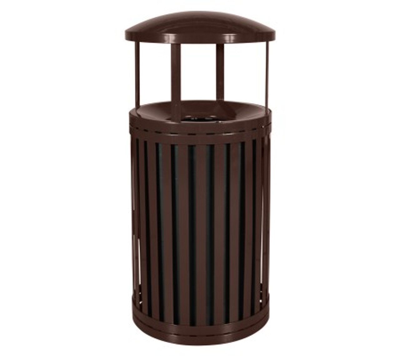 East Hampton 45 Gallon SCTP-40 D ND COF Covered Trash Can BROWN