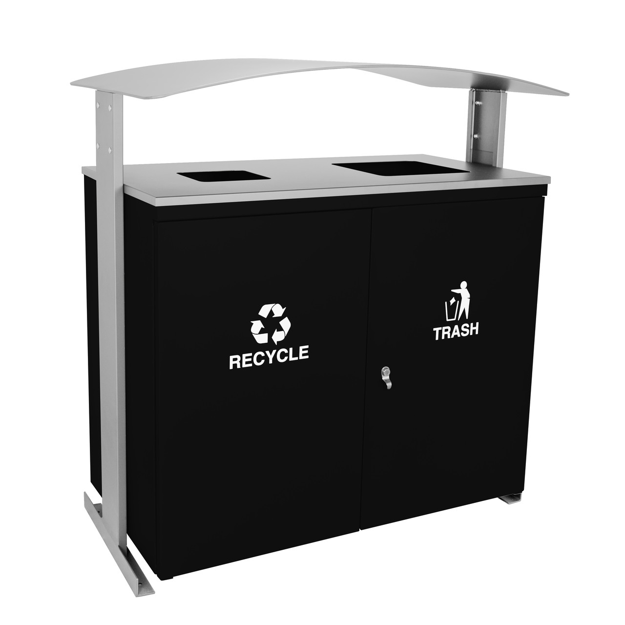 90 Gallon Ellipse Dual Recycling Bin RGU-3645 BLK/HMGX BLACK