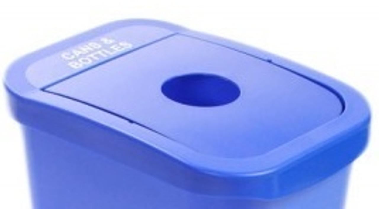 Blue Frame with Blue Round Lid Opening