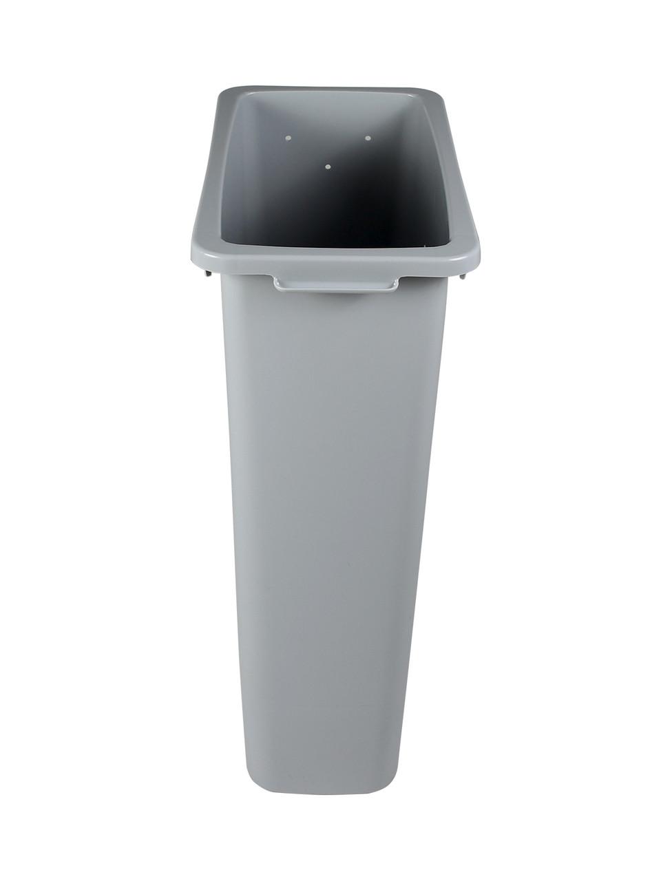 16 Gallon Skinny Plastic Home & Office Trash Can Gray