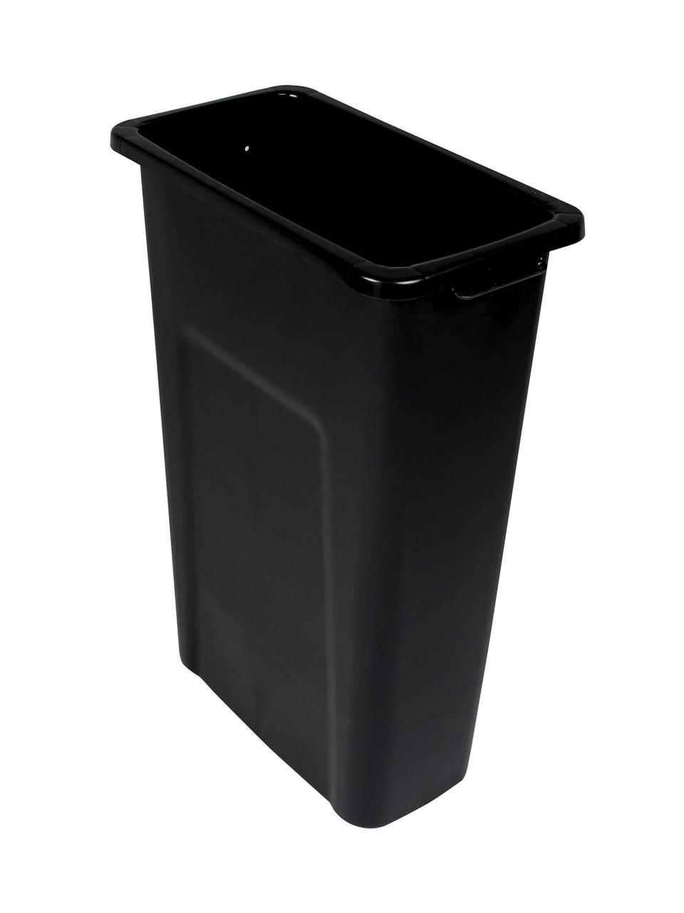 16 Gallon Skinny Plastic Home & Office Trash Can Black