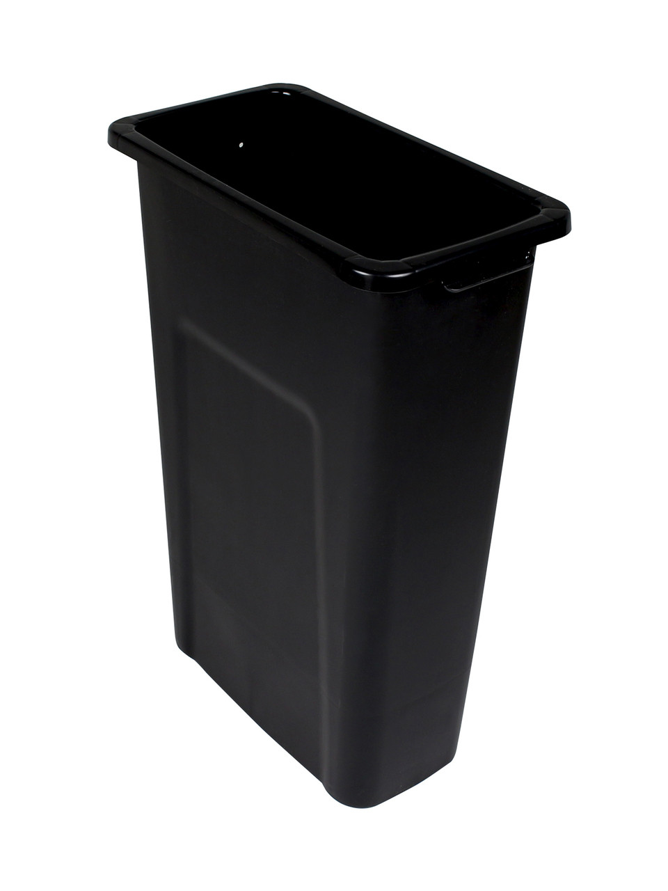 16 Gallon Skinny Plastic Home & Office Trash Can Black