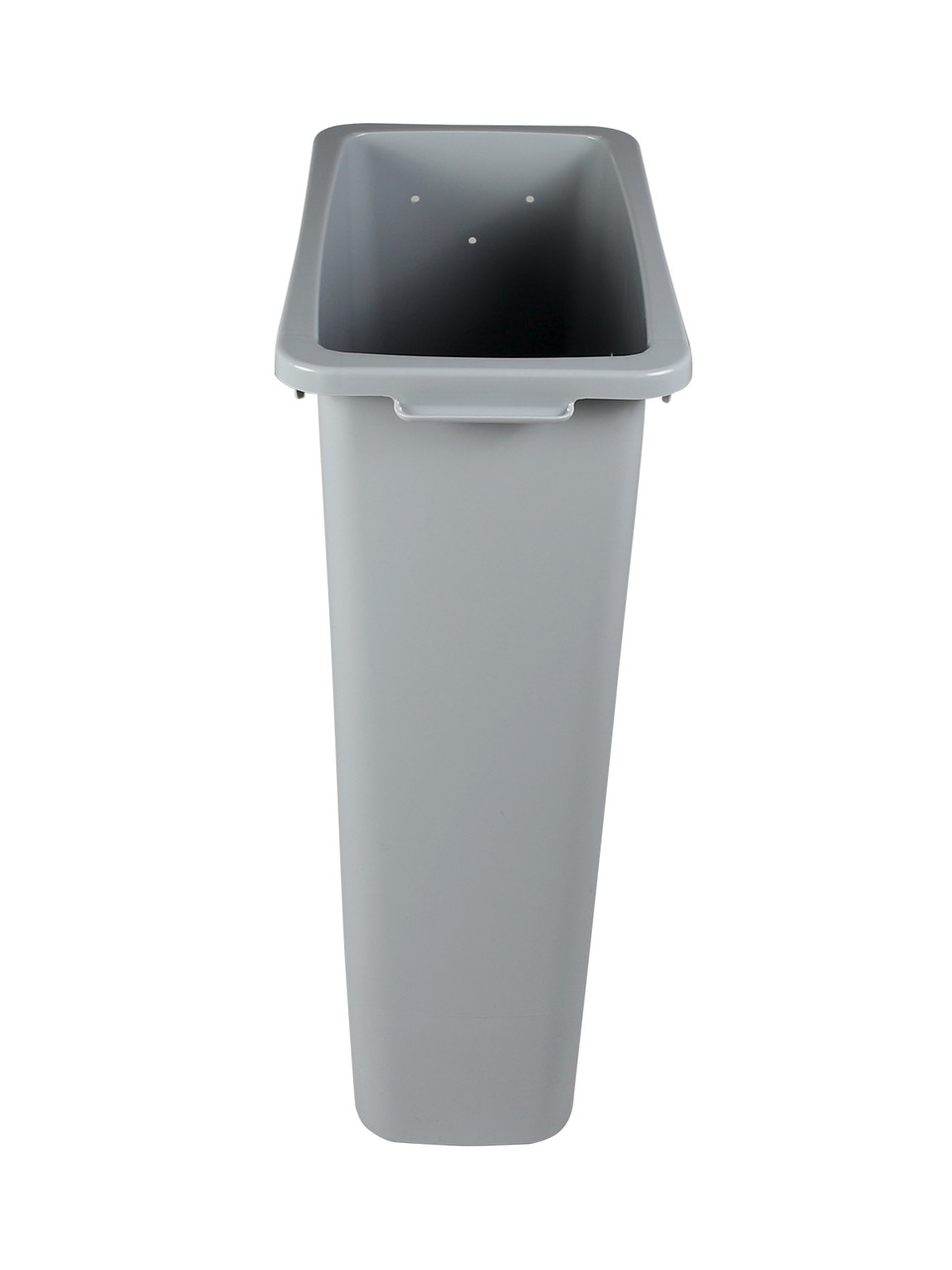 23 Gallon Skinny Trash Can Pre-Drilled for Signs Gray