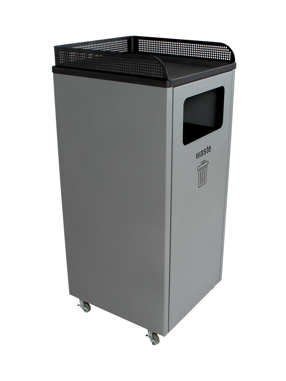 32 Gallon Metal COURTSIDE SINGLE Food Court Trash Can 810400 (WASTE)