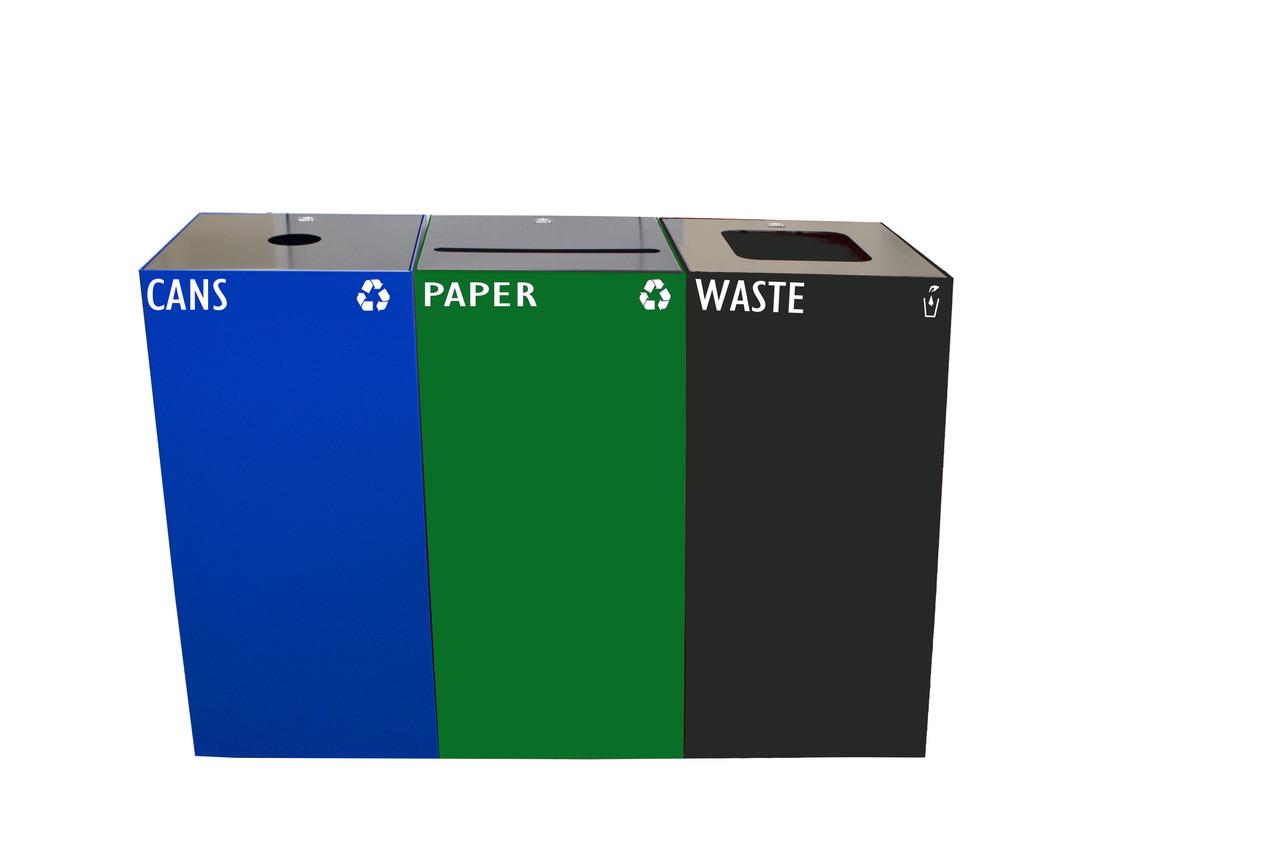 84 Gallon Metal Geocube Recycling System 3S-28GC