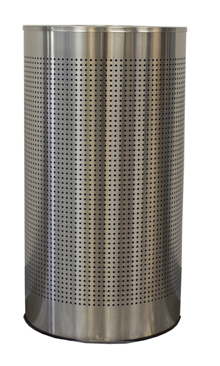 12 Gal The Celestial Clhr12 Ss Mesh Half Round Trash Can