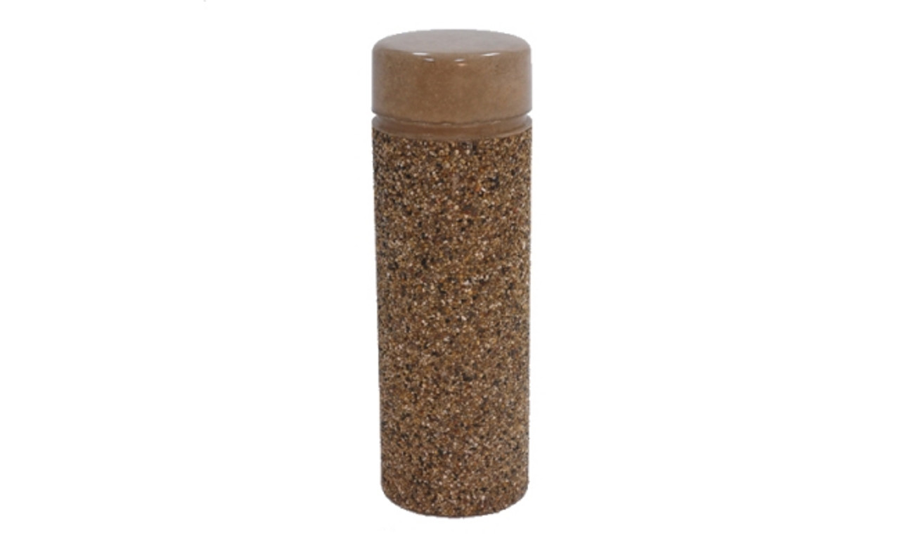 Concrete Bollard Safety Barrier 12 x 30 TF6010 Exposed Aggregate Brown