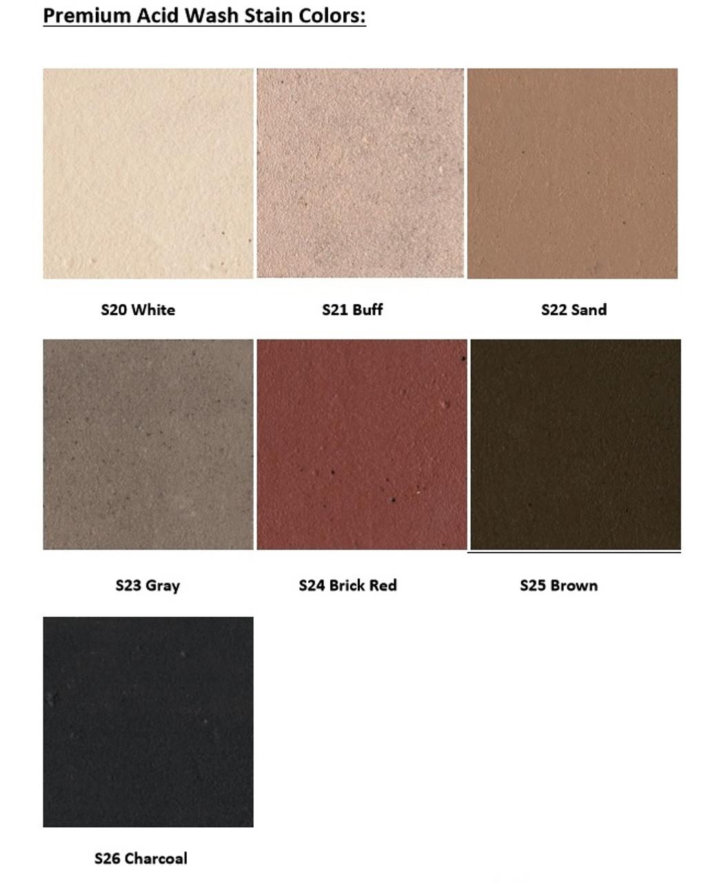 Premium Acid Wash Stain Colors