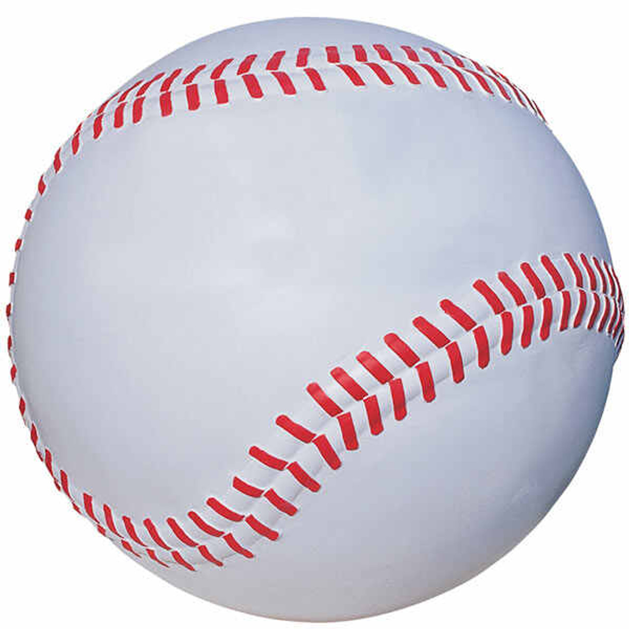 36 Inch Baseball Bollard Safety Barrier Sphere TF6204 Bright White and Bright Red