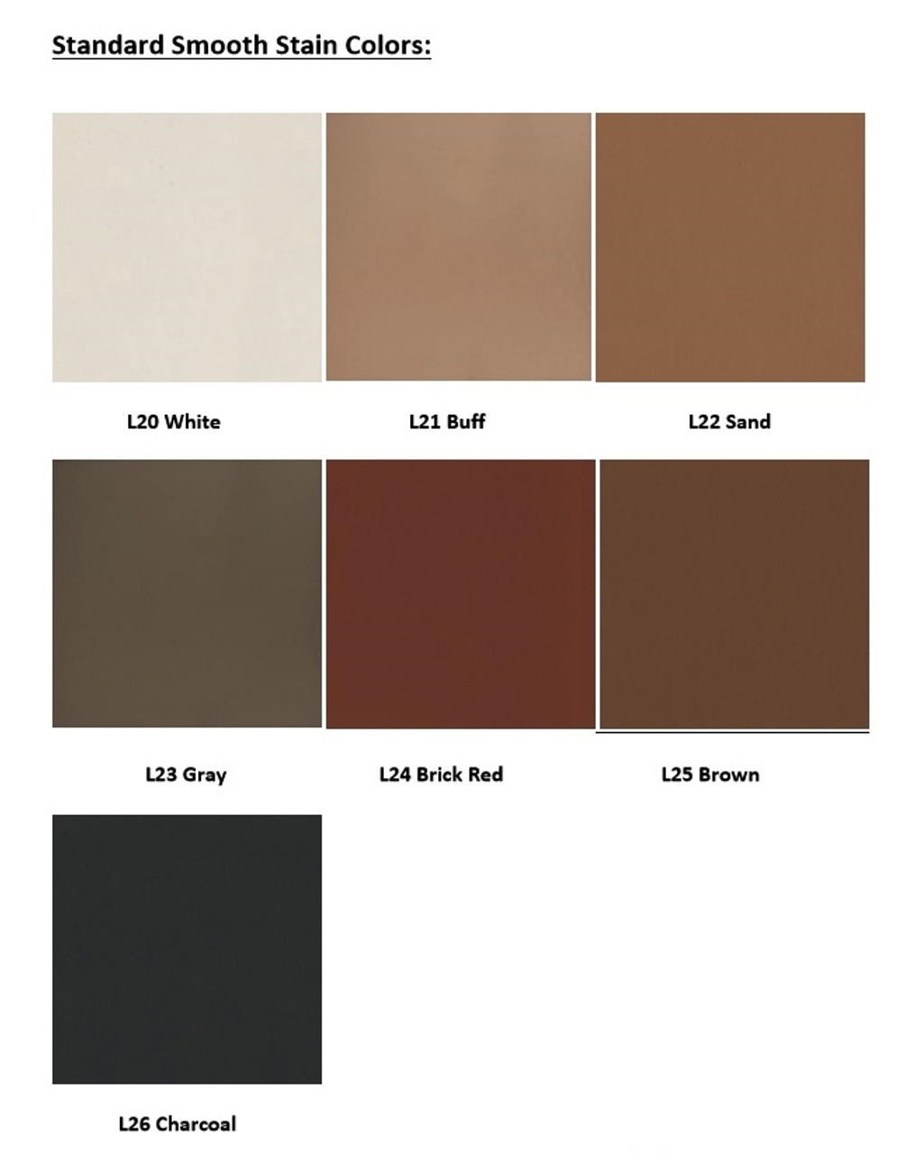 Smooth Stain Colors