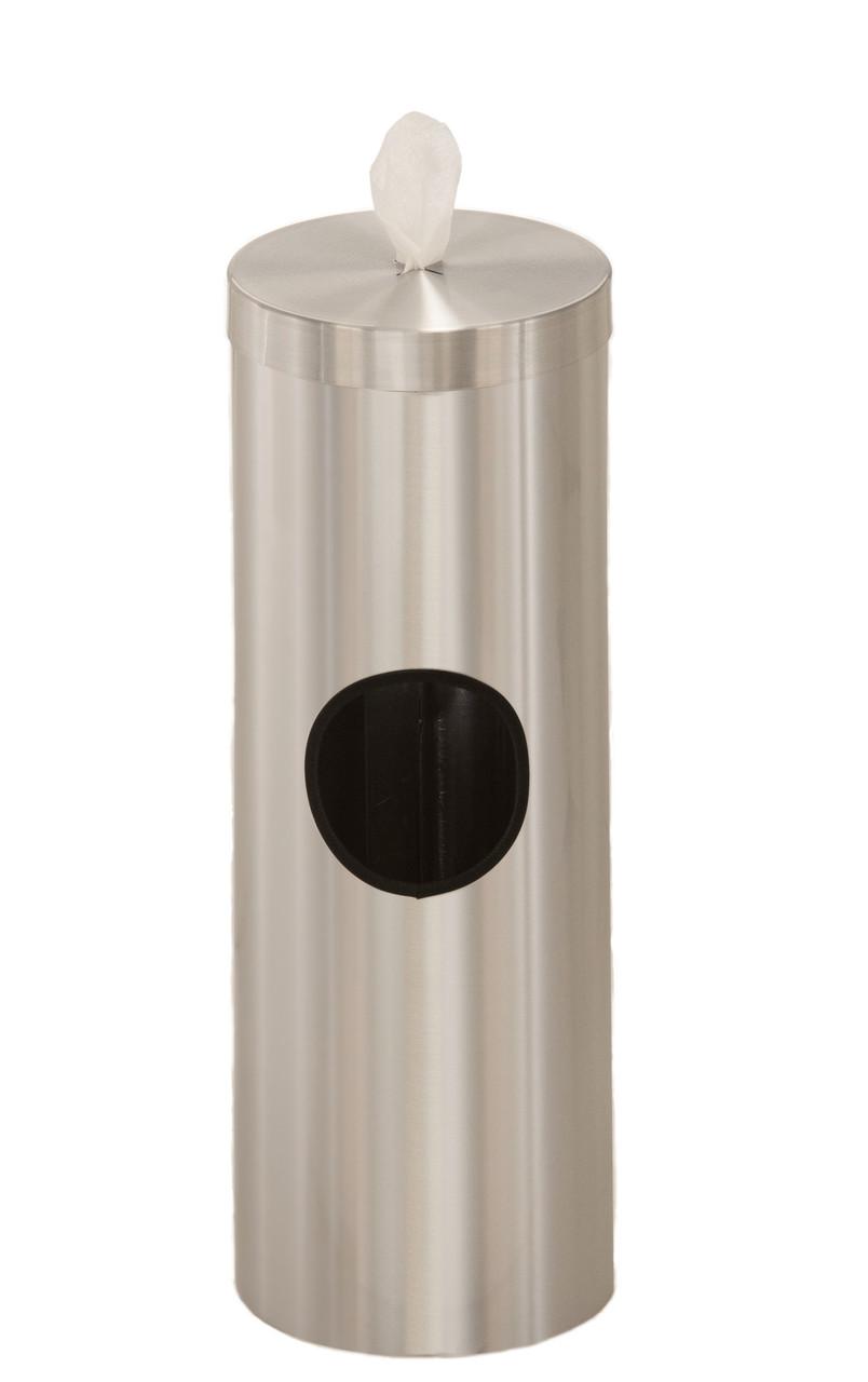 2 Gallon Floor Standing Sanitizing Wipe Dispenser F1028 Satin Aluminum