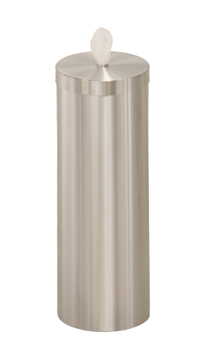 Sanitizing Wipe Dispenser F1026 with Wipe Storage Satin Aluminum